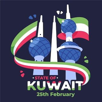 Flat kuwait national day event