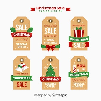 Flat label christmas sale collection