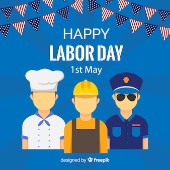 Flat labor day background