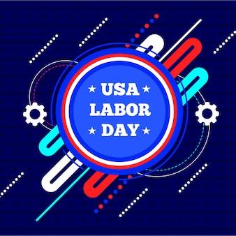 平らな労働日アメリカの背景