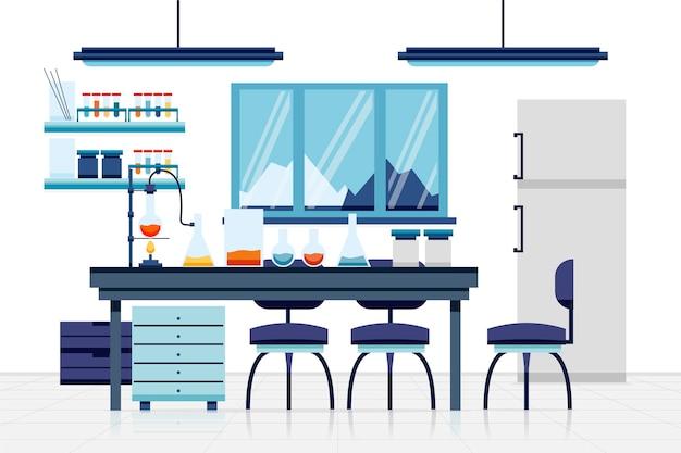 平らな実験室の図