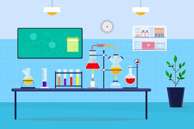 Sala laboratorio piatta