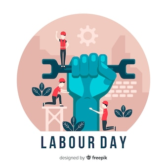 Flat labour day background