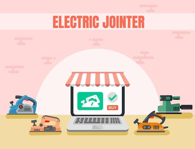 Электрический фуганок интернет-магазин flat landing page