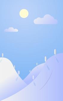 Flat landscape background