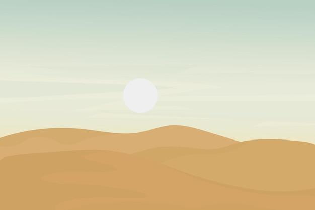 Плоский пейзаж очень жаркое естественное небо пустыни