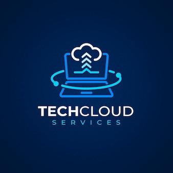 Modello di logo per laptop piatto