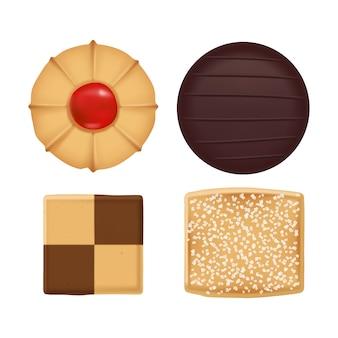 Плоская коллекция ассорти печенья