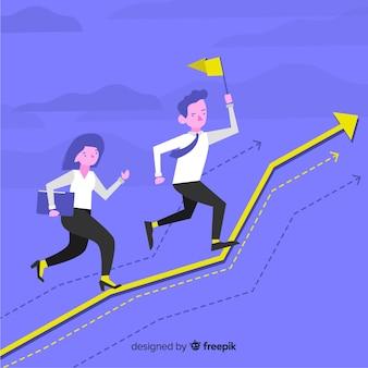 Flat leadership concept