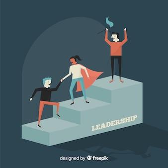 플랫 리더십 디자인