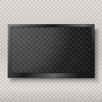 Flat led monitor of computer or frame isolated