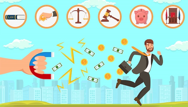 Flat legal assistance in dealing with debtors.