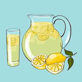 Flat lemonade composition