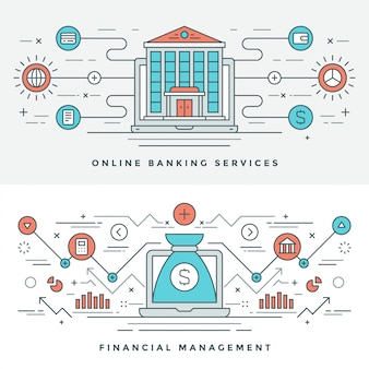 Плоская линия банковского и финансового менеджмента