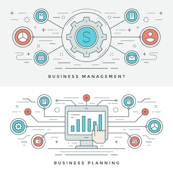 Flat line business management and planning