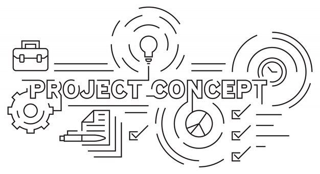 Проектная и бизнес-тема flat line design