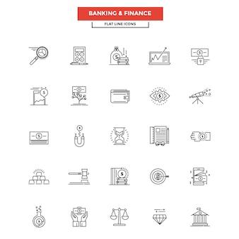 Flat line icons