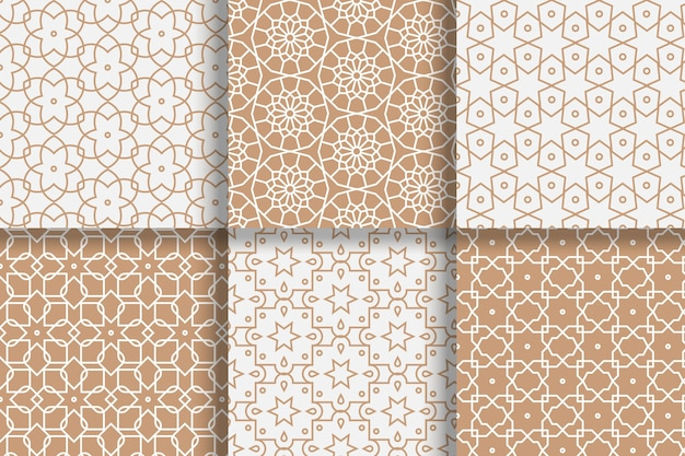 평면 선형 아랍어 패턴 컬렉션