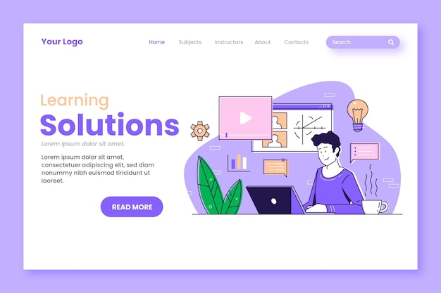 Flat linear online learning landing page