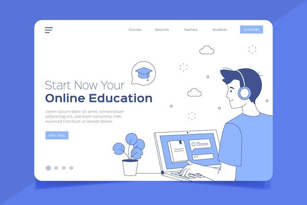 Flat linear online learning landing page