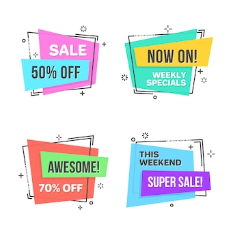 Flat linear promotion banner
