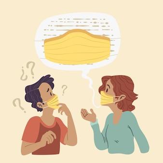 안면 마스크로 인한 평평한 입술 읽기 문제