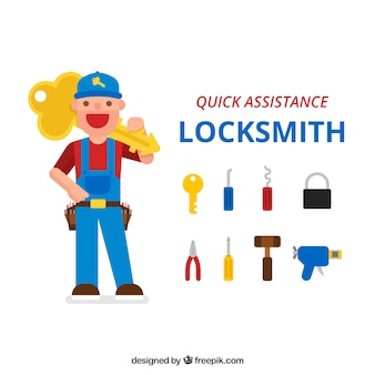 Flat locksmith character