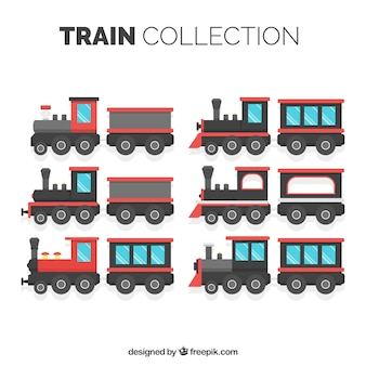 Flat locomotive collection
