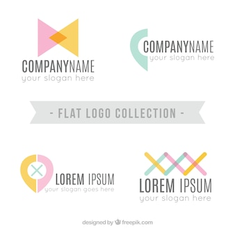 플랫 로고 컬렉션