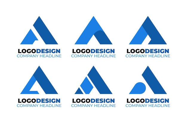 Flat a logo template collection