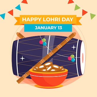 Festival di lohri piatto