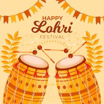 Flat  lohri festival