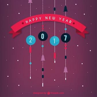 Плоские милые новогодние шары новый год фон