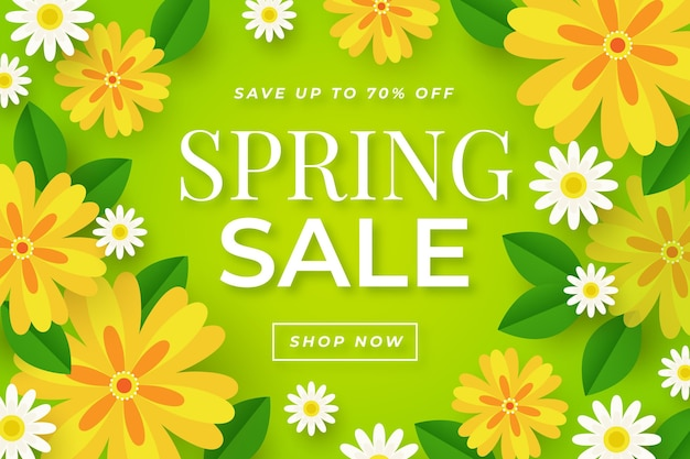 평평한 사랑스러운 봄 판매 벽지
