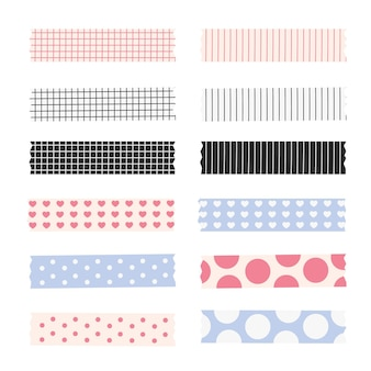 Flat lovely washi tapes collection