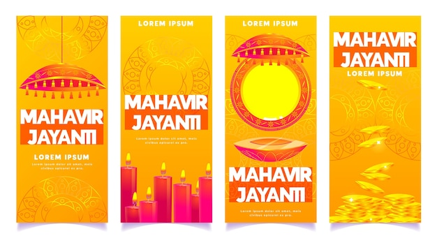 Flat mahavir jayanti instagram stories collection