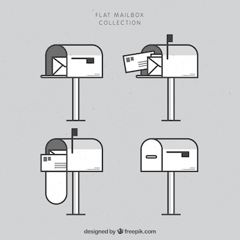 Flat mailbox collection