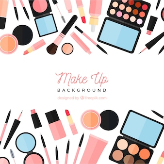 Flat make up background