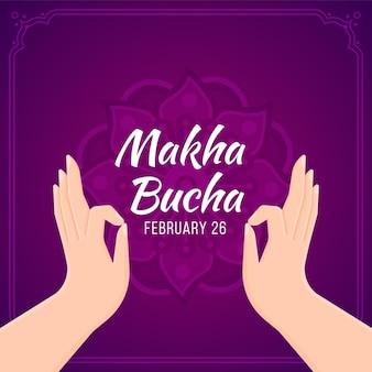 Giorno di makha bucha piatto