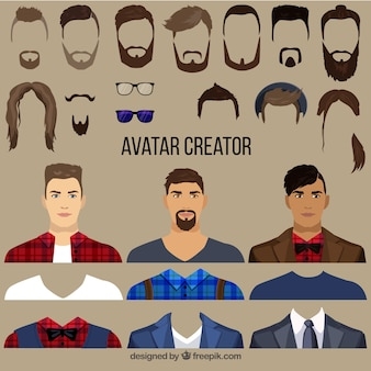 Flat Male Avatar Creator