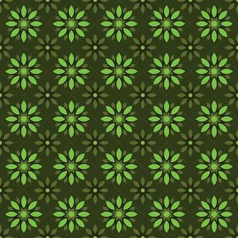 フラットマンダラのシームレスなパターンの背景の壁紙。エレガントな伝統モチーフ。ラグジュアリーな幾何学模様。クラシックバティック。