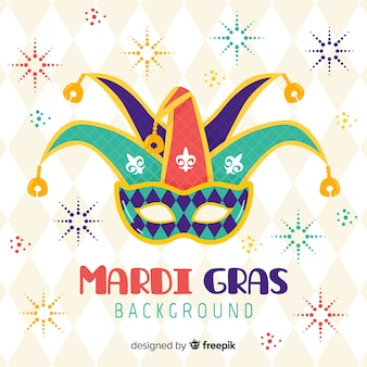 Flat mardi gras background