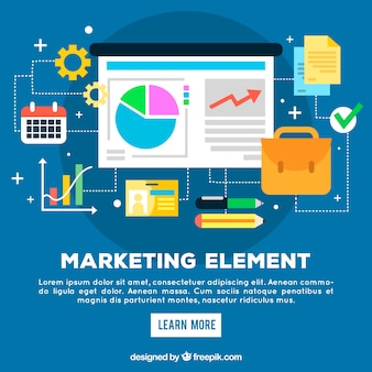 Flat marketing elements background