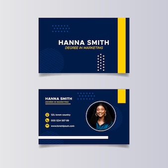 Flat marketing horizontal business cards