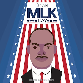 Flat martin luther king day background