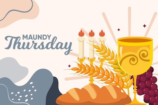 Illustrazione di giovedì santo piatto
