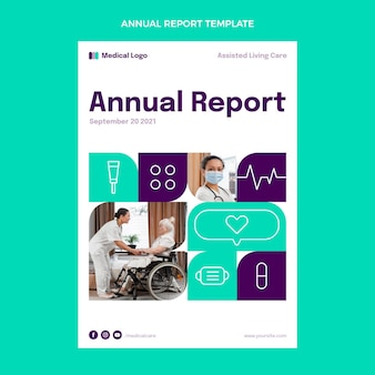 Flat medical annual report template