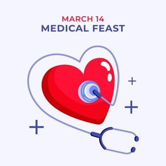 Piatto festa medica illustrazione
