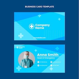 Flat medical horizontal business card