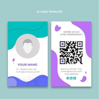 Modello di carta d'identità medica piatta
